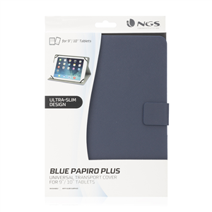 "NGS UNIVERSAL 10"" TABLET CASE PAPIROPLUS BLUE"