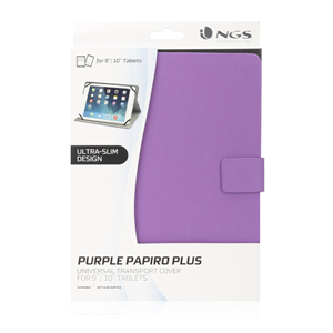 "NGS UNIVERSAL 10"" TABLET CASE PAPIROPLUS PURPLE"