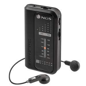 NGS PORTABLE FM/AM RADIO CODE KNOCK BLACK