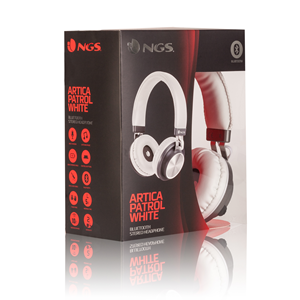 NGS BT HEADPHONE ARTICA PATROL WHITE