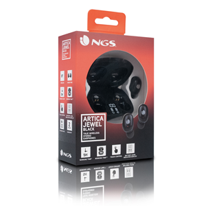 NGS BT TRUE WIRELESS EARPHONES ARTICA JEWEL BLACK