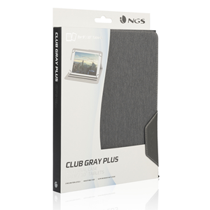 "NGS UNIVERSAL 10"" TABLET CASE CLUB PLUS GRAY"
