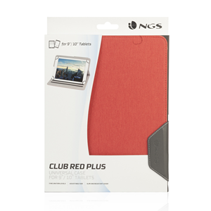 "NGS UNIVERSAL 10"" TABLET CASE CLUB PLUS RED"