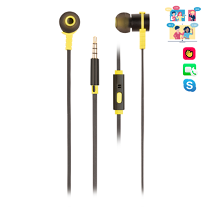 NGS WIRED STEREO EARPHONE CROSS RALLY BLACK