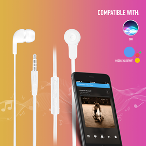 NGS WIRED STEREO EARPHONE CROSS SKIP WHITE