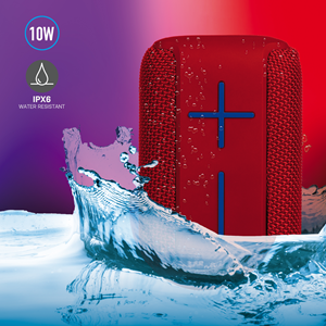 NGS WATERRESISTANT SPEAKER ROLLER COASTER RED