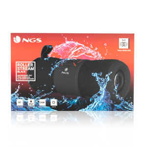 NGS WATERPROOF BT TWS SPEAKER ROLLER STREAM BLACK