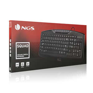 NGS WIRED MULTIMEDIA KEYBOARD SQUAD