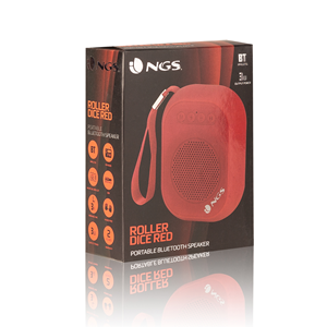 NGS PORTABLE BT SPEAKER ROLLER DICE RED