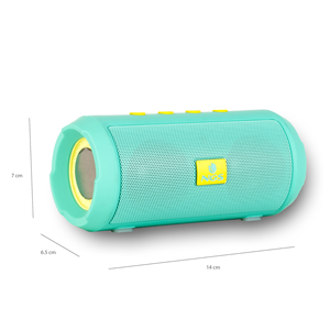 NGS BLUETOOTH SPEAKER ROLLER TUMBLER MINT