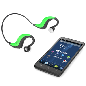 NGS SPORT HEADPHONE ARTICA RUNNER GREEN