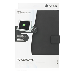"NGS 10"" TABLET CASE + POWERBANK  POWERCAVE"