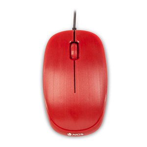 NGS WIRED MOUSE FLAME RED