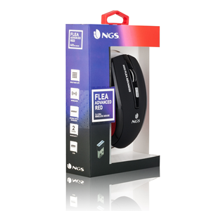 NGS WIRELESS MOUSE FLEA ADVANCED RED