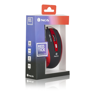 NGS WIRED MOUSE TICK RED