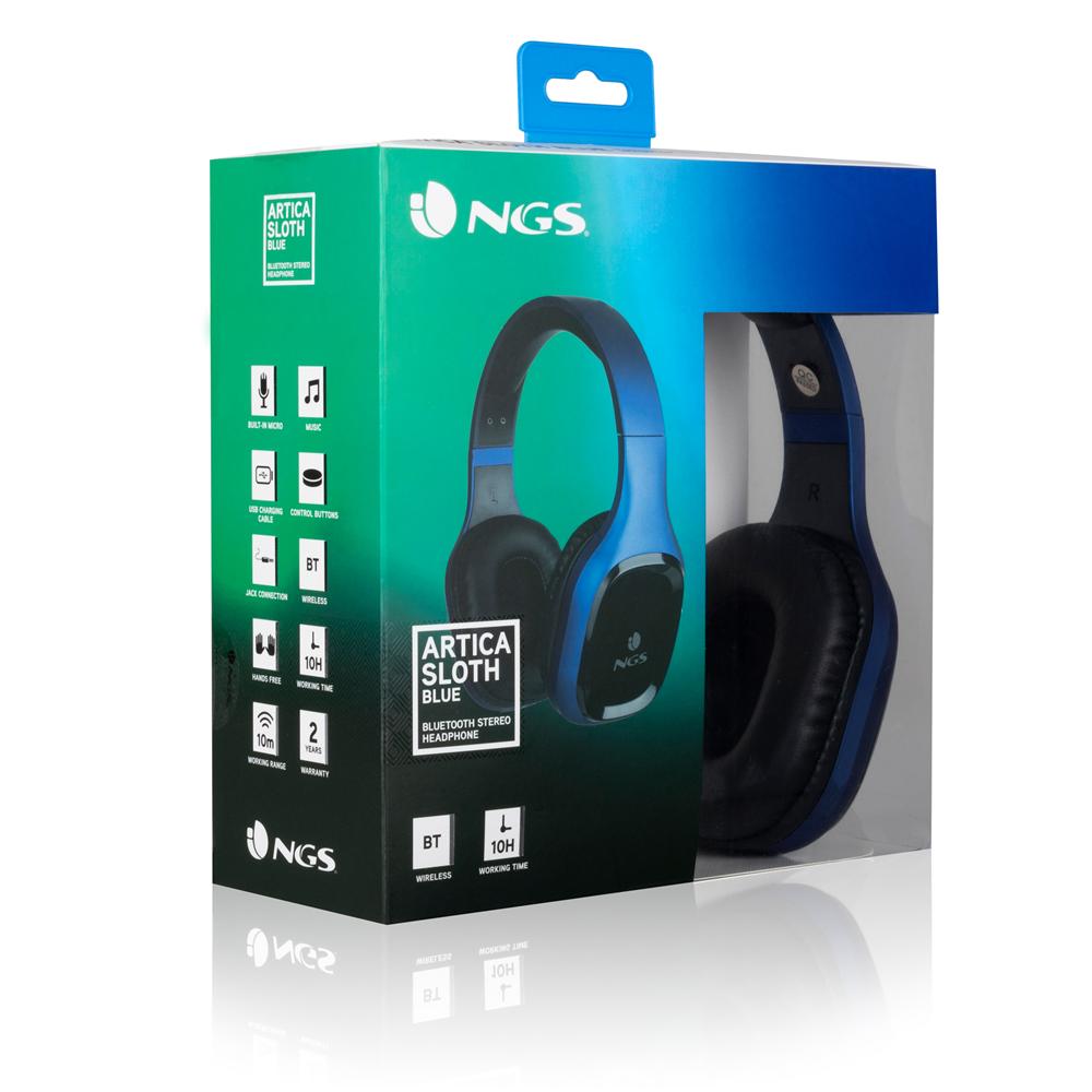 NGS Auriculares Inalámbricos Bluetooth Azul en Auricular con